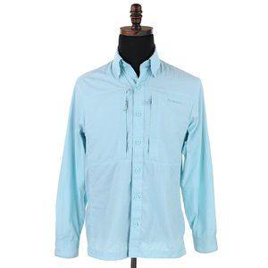 Simms Men's COR3 Long Sleeve 100% Nylon Fly Fishing Shirt - Size Small - Blue